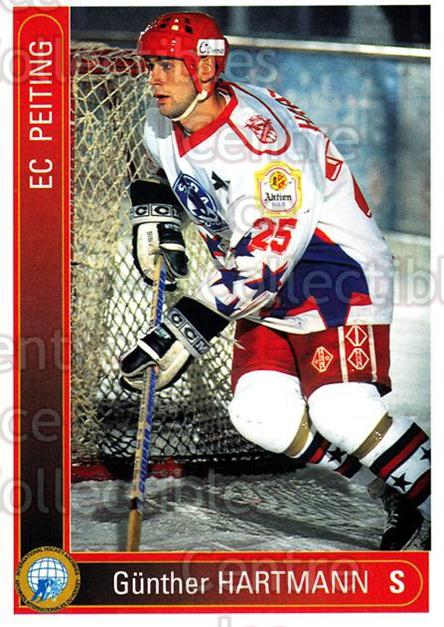 1994-95 German First League #279 Gunther Hartmann<br/>12 In Stock - $2.00 each - <a href=https://centericecollectibles.foxycart.com/cart?name=1994-95%20German%20First%20League%20%23279%20Gunther%20Hartman...&quantity_max=12&price=$2.00&code=150204 class=foxycart> Buy it now! </a>