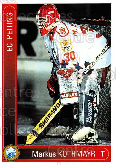 1994-95 German First League #283 Markus Kothmayr<br/>12 In Stock - $2.00 each - <a href=https://centericecollectibles.foxycart.com/cart?name=1994-95%20German%20First%20League%20%23283%20Markus%20Kothmayr...&quantity_max=12&price=$2.00&code=150208 class=foxycart> Buy it now! </a>