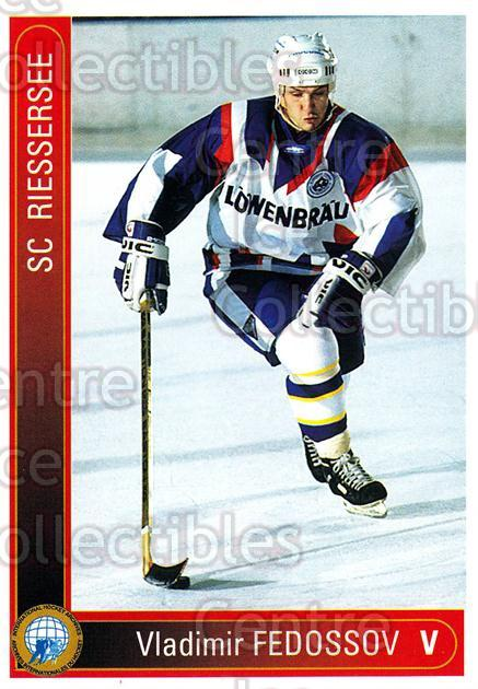 1994-95 German First League #289 Vladimir Fedosov<br/>11 In Stock - $2.00 each - <a href=https://centericecollectibles.foxycart.com/cart?name=1994-95%20German%20First%20League%20%23289%20Vladimir%20Fedoso...&price=$2.00&code=150214 class=foxycart> Buy it now! </a>