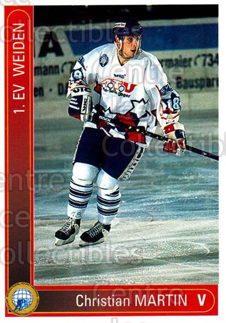1994-95 German First League #364 Christian Martin<br/>10 In Stock - $2.00 each - <a href=https://centericecollectibles.foxycart.com/cart?name=1994-95%20German%20First%20League%20%23364%20Christian%20Marti...&quantity_max=10&price=$2.00&code=150295 class=foxycart> Buy it now! </a>
