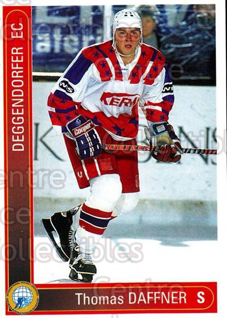 1994-95 German First League #41 Thomas Daffner<br/>6 In Stock - $2.00 each - <a href=https://centericecollectibles.foxycart.com/cart?name=1994-95%20German%20First%20League%20%2341%20Thomas%20Daffner...&quantity_max=6&price=$2.00&code=150345 class=foxycart> Buy it now! </a>