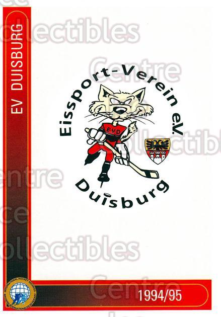 1994-95 German First League #418 Duisburg EV<br/>15 In Stock - $2.00 each - <a href=https://centericecollectibles.foxycart.com/cart?name=1994-95%20German%20First%20League%20%23418%20Duisburg%20EV...&quantity_max=15&price=$2.00&code=150353 class=foxycart> Buy it now! </a>