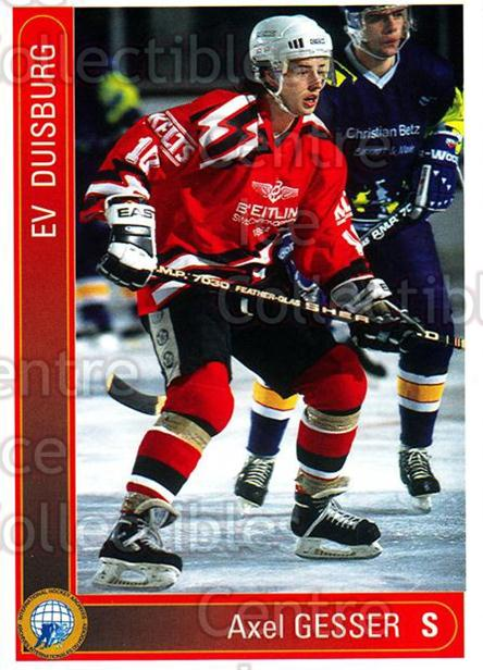 1994-95 German First League #423 Axel Gesser<br/>10 In Stock - $2.00 each - <a href=https://centericecollectibles.foxycart.com/cart?name=1994-95%20German%20First%20League%20%23423%20Axel%20Gesser...&quantity_max=10&price=$2.00&code=150359 class=foxycart> Buy it now! </a>