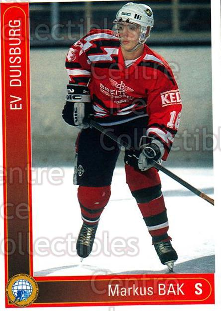 1994-95 German First League #425 Markus Bak<br/>10 In Stock - $2.00 each - <a href=https://centericecollectibles.foxycart.com/cart?name=1994-95%20German%20First%20League%20%23425%20Markus%20Bak...&quantity_max=10&price=$2.00&code=150361 class=foxycart> Buy it now! </a>