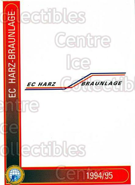 1994-95 German First League #459 EHC Harz-Braunlage<br/>9 In Stock - $2.00 each - <a href=https://centericecollectibles.foxycart.com/cart?name=1994-95%20German%20First%20League%20%23459%20EHC%20Harz-Braunl...&quantity_max=9&price=$2.00&code=150398 class=foxycart> Buy it now! </a>