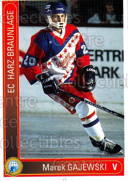 1994-95 German First League #470 Marek Gajewski<br/>11 In Stock - $2.00 each - <a href=https://centericecollectibles.foxycart.com/cart?name=1994-95%20German%20First%20League%20%23470%20Marek%20Gajewski...&quantity_max=11&price=$2.00&code=150411 class=foxycart> Buy it now! </a>