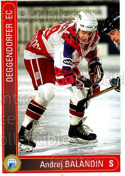 1994-95 German First League #48 Andrei Balandin<br/>9 In Stock - $2.00 each - <a href=https://centericecollectibles.foxycart.com/cart?name=1994-95%20German%20First%20League%20%2348%20Andrei%20Balandin...&price=$2.00&code=150420 class=foxycart> Buy it now! </a>