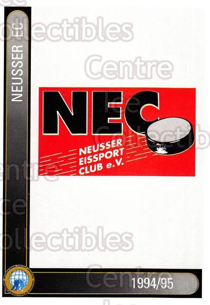 1994-95 German First League #497 Neuss EC<br/>5 In Stock - $2.00 each - <a href=https://centericecollectibles.foxycart.com/cart?name=1994-95%20German%20First%20League%20%23497%20Neuss%20EC...&quantity_max=5&price=$2.00&code=150439 class=foxycart> Buy it now! </a>