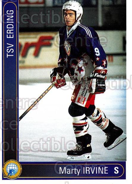 1994-95 German First League #57 Marty Irvine<br/>9 In Stock - $2.00 each - <a href=https://centericecollectibles.foxycart.com/cart?name=1994-95%20German%20First%20League%20%2357%20Marty%20Irvine...&quantity_max=9&price=$2.00&code=150517 class=foxycart> Buy it now! </a>