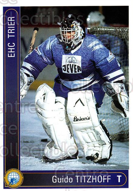 1994-95 German First League #586 Guido Titzhoff<br/>7 In Stock - $2.00 each - <a href=https://centericecollectibles.foxycart.com/cart?name=1994-95%20German%20First%20League%20%23586%20Guido%20Titzhoff...&quantity_max=7&price=$2.00&code=150533 class=foxycart> Buy it now! </a>