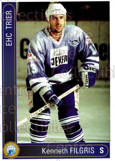 1994-95 German First League #591 Kenneth Filgis<br/>6 In Stock - $2.00 each - <a href=https://centericecollectibles.foxycart.com/cart?name=1994-95%20German%20First%20League%20%23591%20Kenneth%20Filgis...&quantity_max=6&price=$2.00&code=150539 class=foxycart> Buy it now! </a>