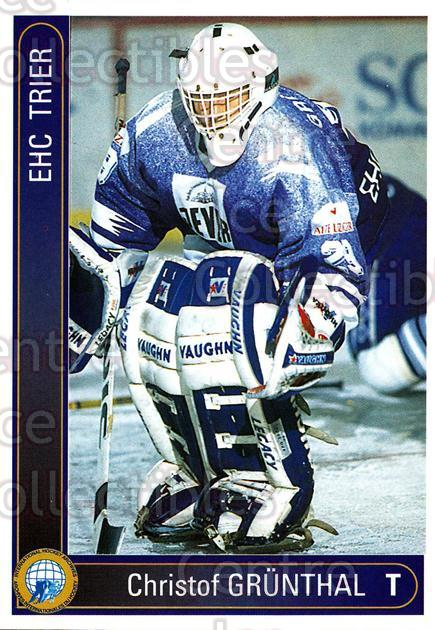 1994-95 German First League #600 Christof Grunthal<br/>9 In Stock - $2.00 each - <a href=https://centericecollectibles.foxycart.com/cart?name=1994-95%20German%20First%20League%20%23600%20Christof%20Grunth...&quantity_max=9&price=$2.00&code=150550 class=foxycart> Buy it now! </a>