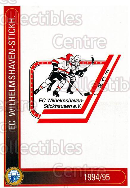 1994-95 German First League #625 EC Wilhelmshaven-Stickhausen<br/>9 In Stock - $2.00 each - <a href=https://centericecollectibles.foxycart.com/cart?name=1994-95%20German%20First%20League%20%23625%20EC%20Wilhelmshave...&quantity_max=9&price=$2.00&code=150576 class=foxycart> Buy it now! </a>