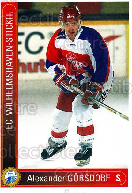 1994-95 German First League #631 Alexander Gorsdorf<br/>12 In Stock - $2.00 each - <a href=https://centericecollectibles.foxycart.com/cart?name=1994-95%20German%20First%20League%20%23631%20Alexander%20Gorsd...&quantity_max=12&price=$2.00&code=150583 class=foxycart> Buy it now! </a>