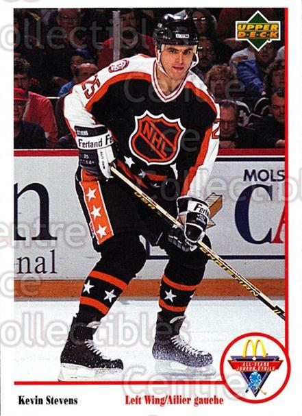 1991-92 McDonalds Upper Deck #3 Kevin Stevens<br/>4 In Stock - $1.00 each - <a href=https://centericecollectibles.foxycart.com/cart?name=1991-92%20McDonalds%20Upper%20Deck%20%233%20Kevin%20Stevens...&quantity_max=4&price=$1.00&code=15058 class=foxycart> Buy it now! </a>