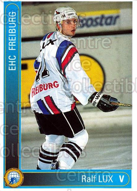 1994-95 German First League #77 Ralf Lux<br/>10 In Stock - $2.00 each - <a href=https://centericecollectibles.foxycart.com/cart?name=1994-95%20German%20First%20League%20%2377%20Ralf%20Lux...&quantity_max=10&price=$2.00&code=150631 class=foxycart> Buy it now! </a>