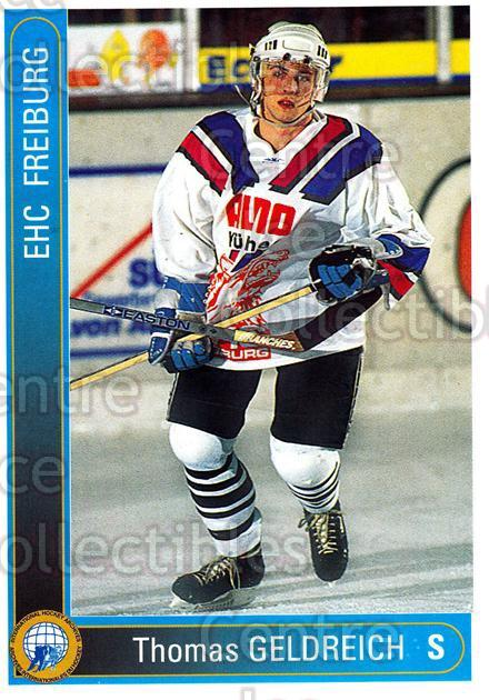 1994-95 German First League #81 Thomas Geldreich<br/>18 In Stock - $2.00 each - <a href=https://centericecollectibles.foxycart.com/cart?name=1994-95%20German%20First%20League%20%2381%20Thomas%20Geldreic...&quantity_max=18&price=$2.00&code=150636 class=foxycart> Buy it now! </a>