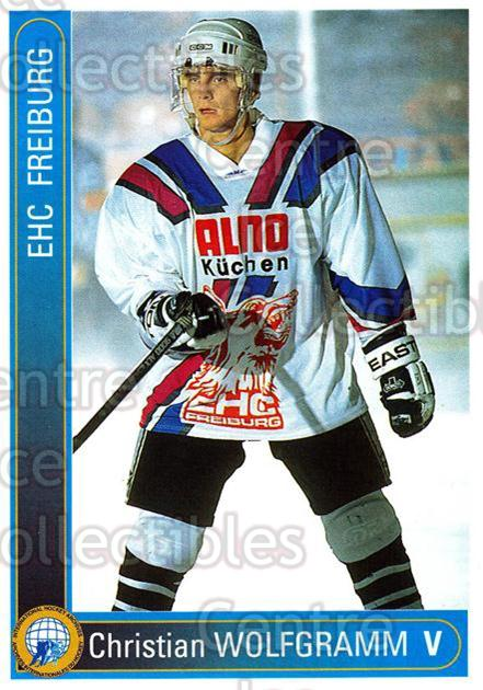 1994-95 German First League #84 Christian Wolfgramm<br/>8 In Stock - $2.00 each - <a href=https://centericecollectibles.foxycart.com/cart?name=1994-95%20German%20First%20League%20%2384%20Christian%20Wolfg...&quantity_max=8&price=$2.00&code=150639 class=foxycart> Buy it now! </a>