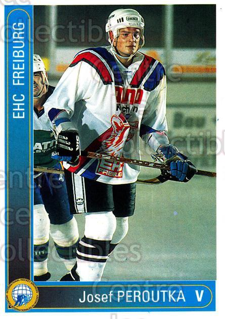 1994-95 German First League #90 Joseph Peroutka<br/>8 In Stock - $2.00 each - <a href=https://centericecollectibles.foxycart.com/cart?name=1994-95%20German%20First%20League%20%2390%20Joseph%20Peroutka...&quantity_max=8&price=$2.00&code=150646 class=foxycart> Buy it now! </a>