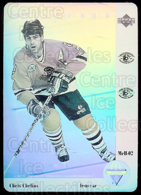 1991-92 McDonald's Upper Deck Hologram #2 Chris Chelios<br/>10 In Stock - $2.00 each - <a href=https://centericecollectibles.foxycart.com/cart?name=1991-92%20McDonald's%20Upper%20Deck%20Hologram%20%232%20Chris%20Chelios...&price=$2.00&code=15064 class=foxycart> Buy it now! </a>