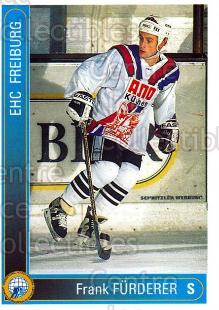1994-95 German First League #94 Frank Furderer<br/>5 In Stock - $2.00 each - <a href=https://centericecollectibles.foxycart.com/cart?name=1994-95%20German%20First%20League%20%2394%20Frank%20Furderer...&quantity_max=5&price=$2.00&code=150650 class=foxycart> Buy it now! </a>