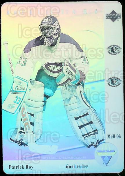 1991-92 McDonald's Upper Deck Hologram #6 Patrick Roy<br/>15 In Stock - $3.00 each - <a href=https://centericecollectibles.foxycart.com/cart?name=1991-92%20McDonald's%20Upper%20Deck%20Hologram%20%236%20Patrick%20Roy...&price=$3.00&code=15066 class=foxycart> Buy it now! </a>