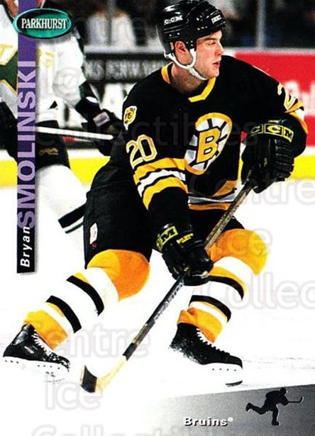 1994-95 Parkhurst #12 Bryan Smolinski<br/>3 In Stock - $1.00 each - <a href=https://centericecollectibles.foxycart.com/cart?name=1994-95%20Parkhurst%20%2312%20Bryan%20Smolinski...&quantity_max=3&price=$1.00&code=150907 class=foxycart> Buy it now! </a>