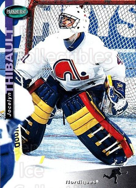 1994-95 Parkhurst #189 Jocelyn Thibault<br/>2 In Stock - $1.00 each - <a href=https://centericecollectibles.foxycart.com/cart?name=1994-95%20Parkhurst%20%23189%20Jocelyn%20Thibaul...&quantity_max=2&price=$1.00&code=150925 class=foxycart> Buy it now! </a>