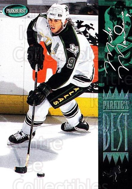 1994-95 Parkhurst #308 Mike Modano<br/>4 In Stock - $1.00 each - <a href=https://centericecollectibles.foxycart.com/cart?name=1994-95%20Parkhurst%20%23308%20Mike%20Modano...&quantity_max=4&price=$1.00&code=150974 class=foxycart> Buy it now! </a>