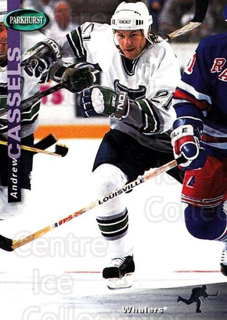 1994-95 Parkhurst #97 Andrew Cassels<br/>2 In Stock - $1.00 each - <a href=https://centericecollectibles.foxycart.com/cart?name=1994-95%20Parkhurst%20%2397%20Andrew%20Cassels...&quantity_max=2&price=$1.00&code=151052 class=foxycart> Buy it now! </a>