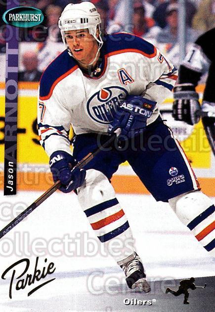 1994-95 Parkhurst SE Gold #59 Jason Arnott<br/>3 In Stock - $2.00 each - <a href=https://centericecollectibles.foxycart.com/cart?name=1994-95%20Parkhurst%20SE%20Gold%20%2359%20Jason%20Arnott...&quantity_max=3&price=$2.00&code=151341 class=foxycart> Buy it now! </a>