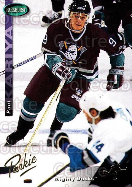 1994-95 Parkhurst SE Gold #8 Paul Kariya<br/>3 In Stock - $2.00 each - <a href=https://centericecollectibles.foxycart.com/cart?name=1994-95%20Parkhurst%20SE%20Gold%20%238%20Paul%20Kariya...&quantity_max=3&price=$2.00&code=151364 class=foxycart> Buy it now! </a>
