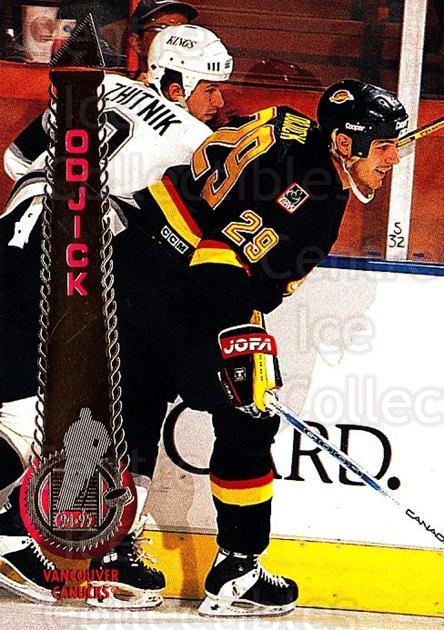1994-95 Pinnacle #177 Gino OdJick<br/>6 In Stock - $1.00 each - <a href=https://centericecollectibles.foxycart.com/cart?name=1994-95%20Pinnacle%20%23177%20Gino%20OdJick...&quantity_max=6&price=$1.00&code=151403 class=foxycart> Buy it now! </a>