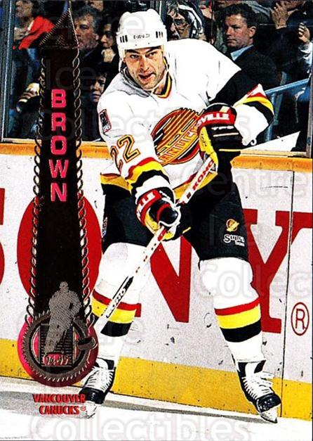1994-95 Pinnacle #34 Jeff Brown<br/>6 In Stock - $1.00 each - <a href=https://centericecollectibles.foxycart.com/cart?name=1994-95%20Pinnacle%20%2334%20Jeff%20Brown...&quantity_max=6&price=$1.00&code=151492 class=foxycart> Buy it now! </a>