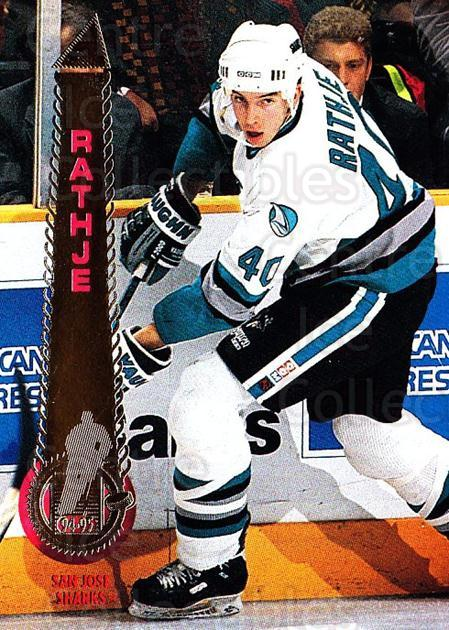 1994-95 Pinnacle #363 Mike Rathje<br/>6 In Stock - $1.00 each - <a href=https://centericecollectibles.foxycart.com/cart?name=1994-95%20Pinnacle%20%23363%20Mike%20Rathje...&quantity_max=6&price=$1.00&code=151517 class=foxycart> Buy it now! </a>