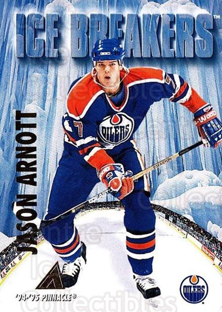 1994-95 Pinnacle #463 Jason Arnott<br/>2 In Stock - $1.00 each - <a href=https://centericecollectibles.foxycart.com/cart?name=1994-95%20Pinnacle%20%23463%20Jason%20Arnott...&quantity_max=2&price=$1.00&code=151623 class=foxycart> Buy it now! </a>