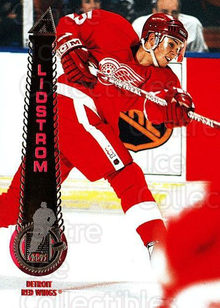1994-95 Pinnacle #66 Nicklas Lidstrom<br/>5 In Stock - $1.00 each - <a href=https://centericecollectibles.foxycart.com/cart?name=1994-95%20Pinnacle%20%2366%20Nicklas%20Lidstro...&quantity_max=5&price=$1.00&code=151719 class=foxycart> Buy it now! </a>