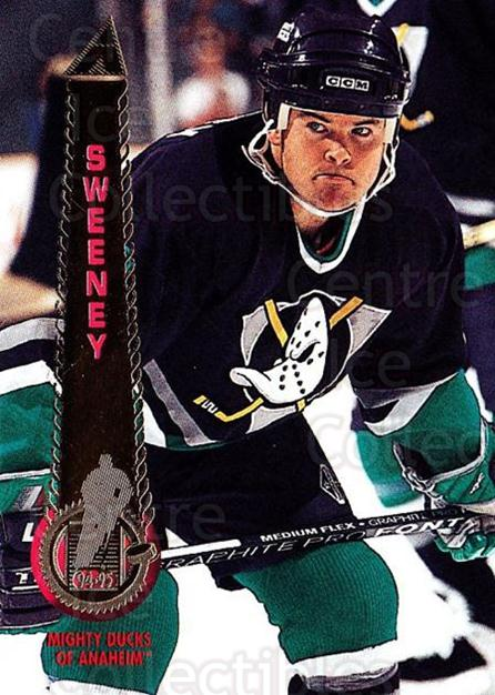 1994-95 Pinnacle #93 Tim Sweeney<br/>6 In Stock - $1.00 each - <a href=https://centericecollectibles.foxycart.com/cart?name=1994-95%20Pinnacle%20%2393%20Tim%20Sweeney...&quantity_max=6&price=$1.00&code=151748 class=foxycart> Buy it now! </a>