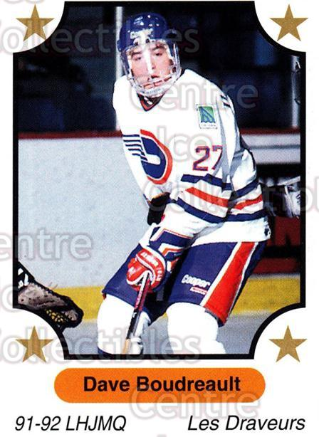 1991-92 7th Inning Sketch QMJHL #117 Dave Boudreault<br/>7 In Stock - $1.00 each - <a href=https://centericecollectibles.foxycart.com/cart?name=1991-92%207th%20Inning%20Sketch%20QMJHL%20%23117%20Dave%20Boudreault...&quantity_max=7&price=$1.00&code=15202 class=foxycart> Buy it now! </a>