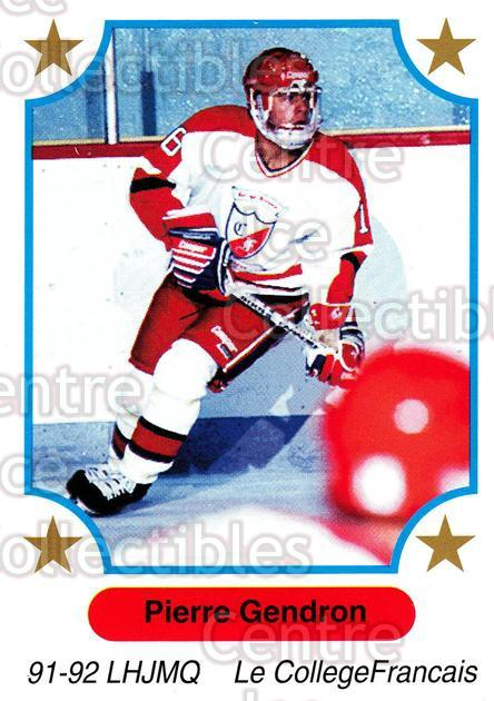 1991-92 7th Inning Sketch QMJHL #133 Pierre Gendron<br/>5 In Stock - $1.00 each - <a href=https://centericecollectibles.foxycart.com/cart?name=1991-92%207th%20Inning%20Sketch%20QMJHL%20%23133%20Pierre%20Gendron...&quantity_max=5&price=$1.00&code=15220 class=foxycart> Buy it now! </a>