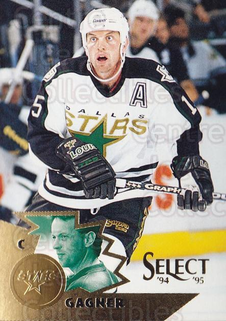 1994-95 Select #6 Dave Gagner<br/>4 In Stock - $1.00 each - <a href=https://centericecollectibles.foxycart.com/cart?name=1994-95%20Select%20%236%20Dave%20Gagner...&quantity_max=4&price=$1.00&code=152282 class=foxycart> Buy it now! </a>