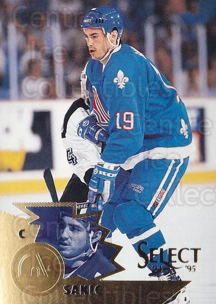 1994-95 Select #62 Joe Sakic<br/>4 In Stock - $2.00 each - <a href=https://centericecollectibles.foxycart.com/cart?name=1994-95%20Select%20%2362%20Joe%20Sakic...&quantity_max=4&price=$2.00&code=152285 class=foxycart> Buy it now! </a>