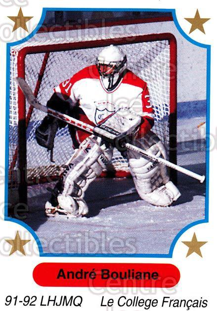 1991-92 7th Inning Sketch QMJHL #149 Andre Bouliane<br/>6 In Stock - $1.00 each - <a href=https://centericecollectibles.foxycart.com/cart?name=1991-92%207th%20Inning%20Sketch%20QMJHL%20%23149%20Andre%20Bouliane...&quantity_max=6&price=$1.00&code=15237 class=foxycart> Buy it now! </a>