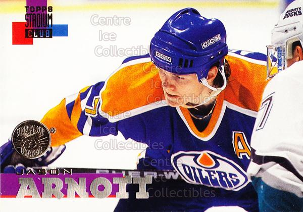 1994-95 Stadium Club Super Team Winner Redeemed #7 Jason Arnott<br/>7 In Stock - $2.00 each - <a href=https://centericecollectibles.foxycart.com/cart?name=1994-95%20Stadium%20Club%20Super%20Team%20Winner%20Redeemed%20%237%20Jason%20Arnott...&quantity_max=7&price=$2.00&code=152484 class=foxycart> Buy it now! </a>