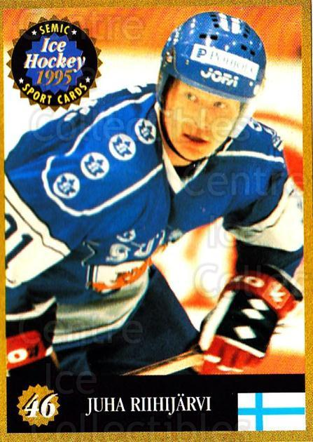 1995 Finnish Semic World Championships #46 Juha Riihijarvi<br/>9 In Stock - $2.00 each - <a href=https://centericecollectibles.foxycart.com/cart?name=1995%20Finnish%20Semic%20World%20Championships%20%2346%20Juha%20Riihijarvi...&quantity_max=9&price=$2.00&code=152913 class=foxycart> Buy it now! </a>