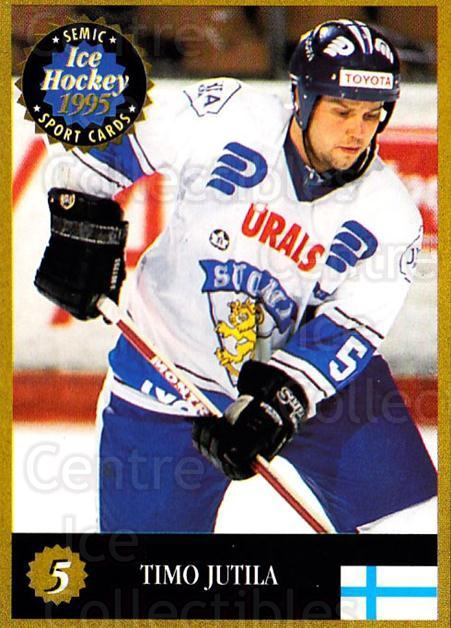 1995 Finnish Semic World Championships #5 Timo Jutila<br/>3 In Stock - $2.00 each - <a href=https://centericecollectibles.foxycart.com/cart?name=1995%20Finnish%20Semic%20World%20Championships%20%235%20Timo%20Jutila...&quantity_max=3&price=$2.00&code=152917 class=foxycart> Buy it now! </a>