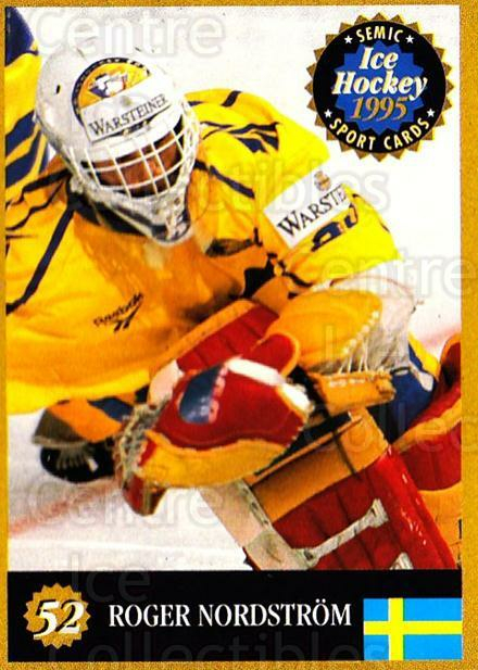 1995 Finnish Semic World Championships #52 Roger Nordstrom<br/>1 In Stock - $2.00 each - <a href=https://centericecollectibles.foxycart.com/cart?name=1995%20Finnish%20Semic%20World%20Championships%20%2352%20Roger%20Nordstrom...&quantity_max=1&price=$2.00&code=152920 class=foxycart> Buy it now! </a>