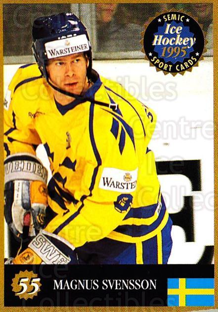 1995 Finnish Semic World Championships #55 Magnus Svensson<br/>8 In Stock - $2.00 each - <a href=https://centericecollectibles.foxycart.com/cart?name=1995%20Finnish%20Semic%20World%20Championships%20%2355%20Magnus%20Svensson...&quantity_max=8&price=$2.00&code=152923 class=foxycart> Buy it now! </a>