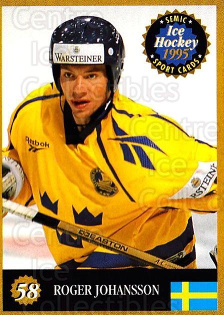 1995 Finnish Semic World Championships #58 Roger Johansson<br/>9 In Stock - $2.00 each - <a href=https://centericecollectibles.foxycart.com/cart?name=1995%20Finnish%20Semic%20World%20Championships%20%2358%20Roger%20Johansson...&quantity_max=9&price=$2.00&code=152925 class=foxycart> Buy it now! </a>