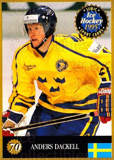 1995 Finnish Semic World Championships #70 Andreas Dackell<br/>11 In Stock - $2.00 each - <a href=https://centericecollectibles.foxycart.com/cart?name=1995%20Finnish%20Semic%20World%20Championships%20%2370%20Andreas%20Dackell...&quantity_max=11&price=$2.00&code=152937 class=foxycart> Buy it now! </a>